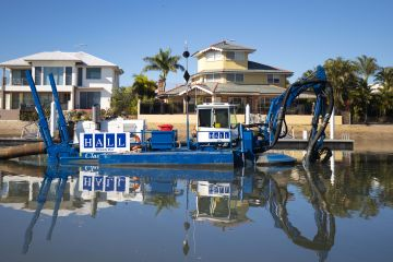 Queensland waterways welcome amphibious dredge