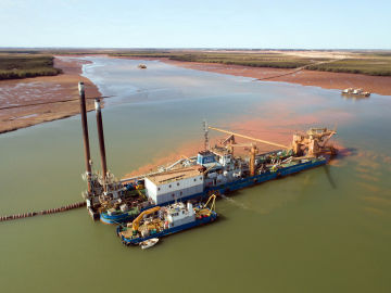 Lumsden Point Dredging Works